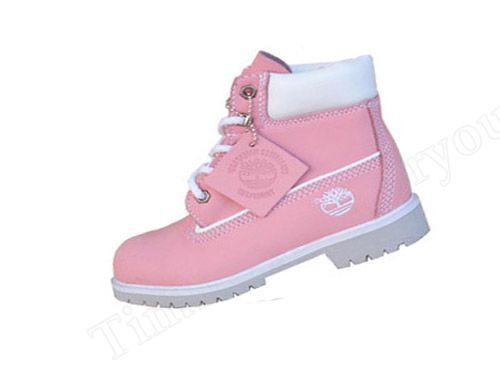 Timberland Kid's Waterproof Boots-Pink White