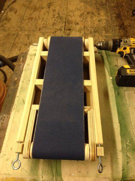 Wooden belt sander