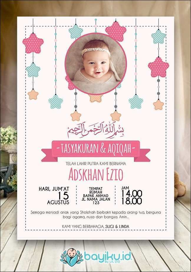46++ Contoh kartu nama aqiqah anak terbaru terbaru