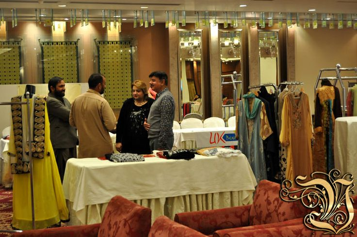 Owner of Vestiarie Shahzad Masood in Front of Vestiarie Stall in Fashion Exhibition at PC Rawalpindi 4 March 2014.
