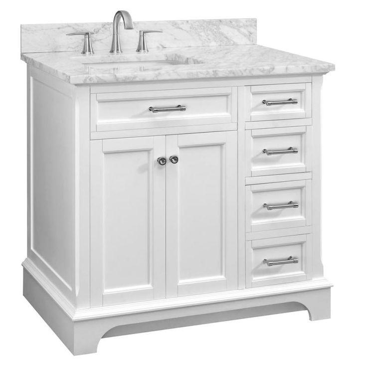 scott living roveland 36 in white single sink bathroom on lowes vanity id=85264