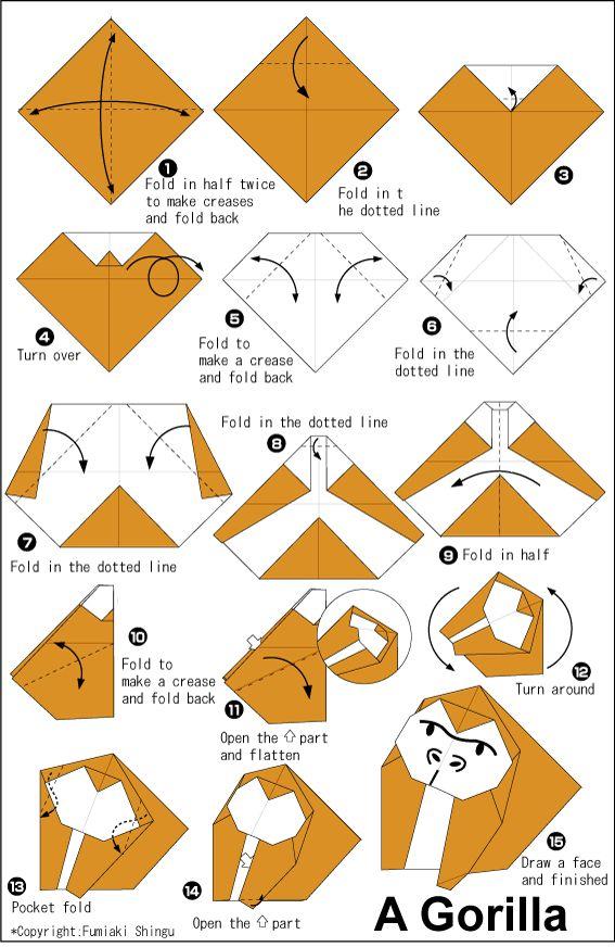 Origami Gorilla- Gorilla Watch (Word Wisdom paragraph)