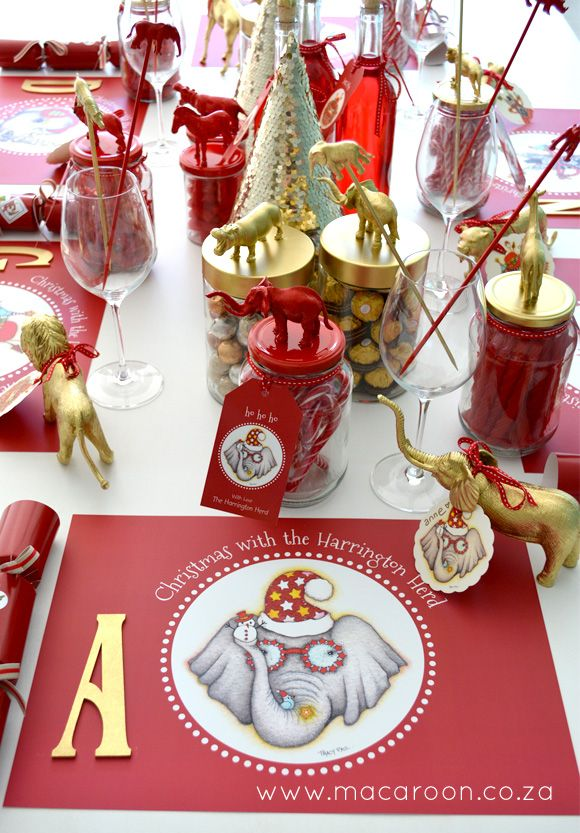 Tracy Paul Festive African Christmas Place mats available at www.macaroon.co.za