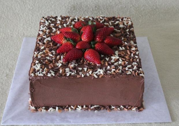 Čokoláda a jahody , čokoládové torty torty | Tortyodmamy.sk