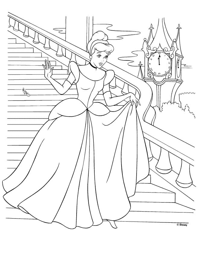 princess cinderella coloring sheet for the kiddos at the reception.