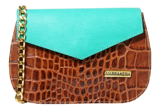 Marrakesh® Bags Collection Fiordo Green & Caramel Cocorito; Italian Materials