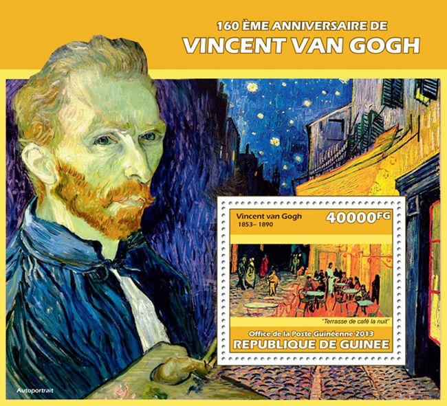 "GU 13616 b160th anniversary of Vincent Van Gogh, (""Cafe Terrace at Night"")."