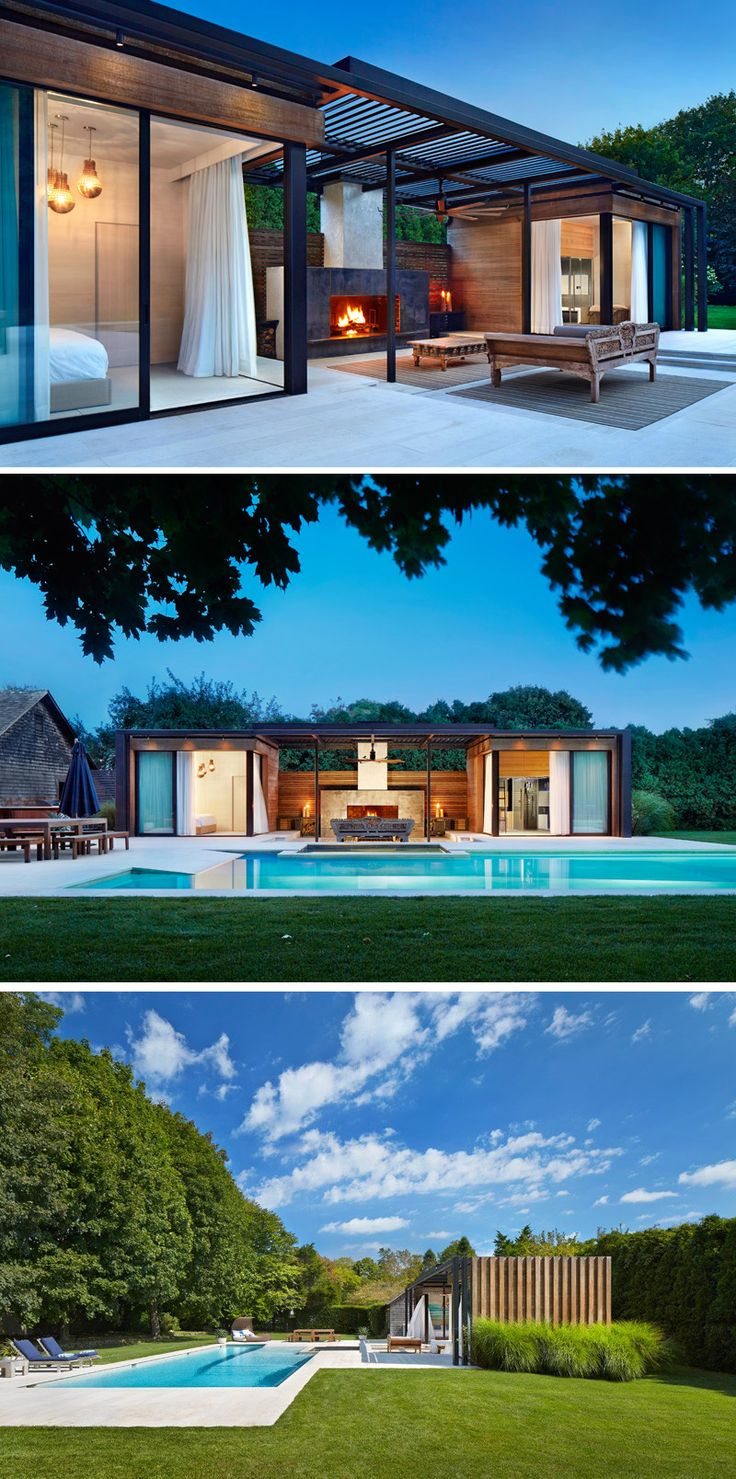 THIS AS A HOUSE! ICRAVE was asked by a home owner in Amagansett, New York, to transform the outdoor area at his house into a contemporary pool and spa retreat, ideal for entertaining in the hot summer months.