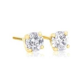 1 carat Brilliant Round Diamond Stud Earrings in 14Kt White Gold or Yellow Gold,Screwback (GH - I1)-Y, (diamond stud earrings, diamond earrings, netaya, diamond earrings and rings, poor quality, stud, diamond studs), via http://myamzn.heroku.com/go/B0044QDYEU/1-carat-Brilliant-Round-Diamond-Stud-Earrings-in-14Kt-White-Gold-or-Yellow-Gold-Screwback-GH-I1-Y