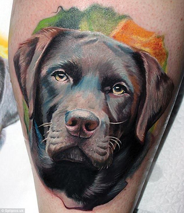 Dog Owners Have Pets Tattooed On Their Skin Dog Tattoos Dog Memorial Tattoos Dog Portrait Tattoo
