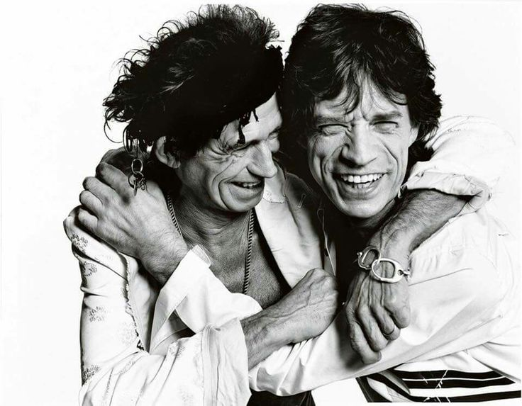 Keith Richards and Mick Jagger, The Rolling Stones.