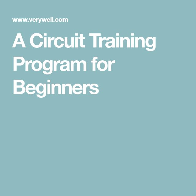 A Circuit Training Program for Beginners