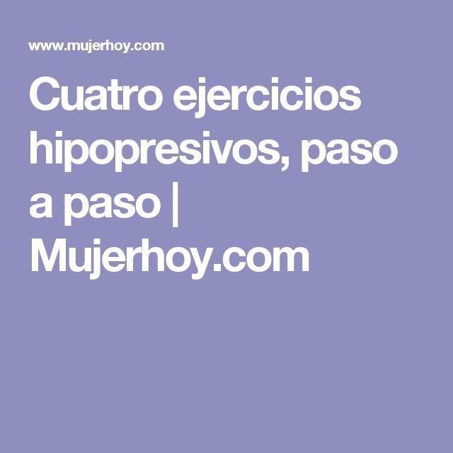 Cuatro ejercicios hipopresivos, paso a paso |  Mujerhoy.com