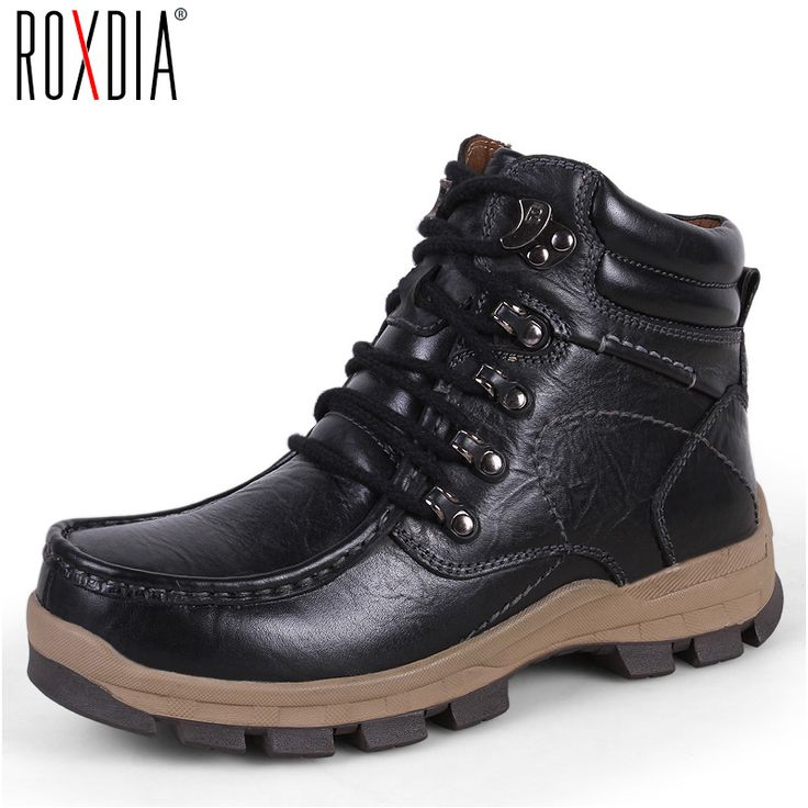 Bottes d'hiver pour hommes chaud Bottes de neige Homme Mode Chaussures Hommes Casual Bask-s en cuir daim Bottines Noir,noir,8.5