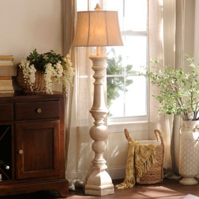 Mackinaw Cream Floor Lamp Kirklands Farmhouse Floor