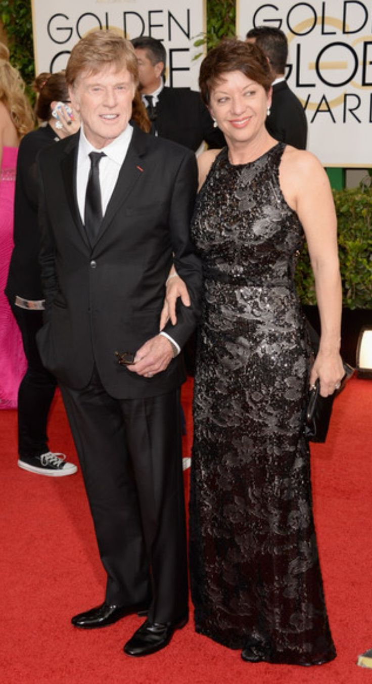 Robert Redford (b. 1936) with his second wife Sibylle Szaggars (b 1957). Married 2009. She is 21 years his junior.