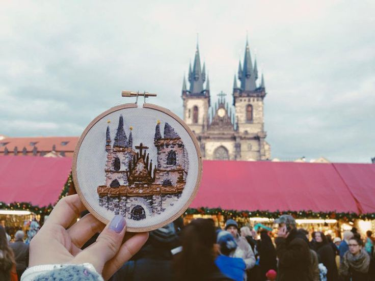 embroidered travel scenes | Teressa Lim