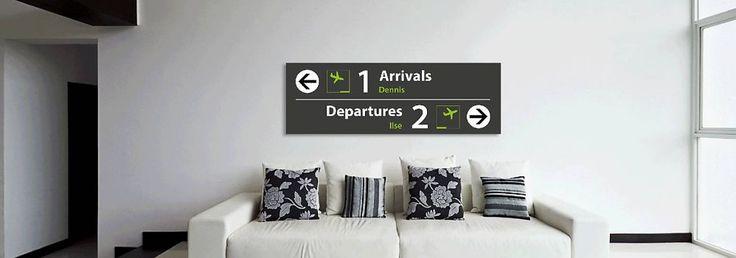 Unieke Airpart borden. Op dibond bedrukt met gave airport & subway art