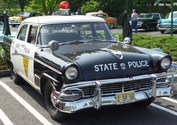 1956 Ford State Police cruiser squadcar patrol car police car squad car