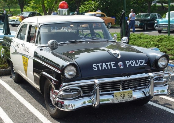Auto patrulla 1956.