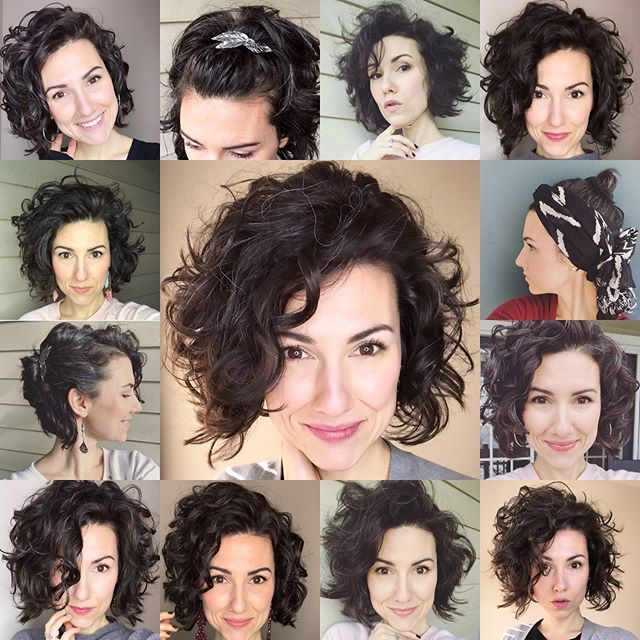 Curly Hair Is Many Things Boring Is Not One Of Them There Are So Many Ways To Switch Up You Curly Hair Styles Short Wavy Hair Haircuts For Curly Hair