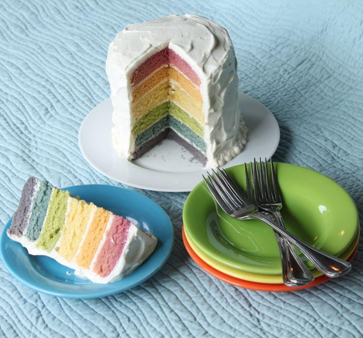 Can U Make Rainbow Cake Using Natural Food Coloring