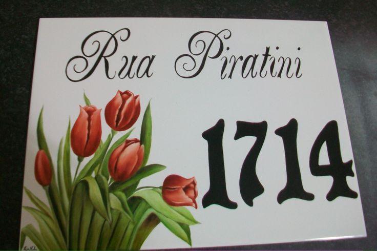 Número tulipas pintado por Lia