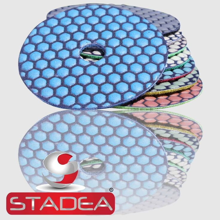 "Dry granite polishing pads kit, stadea 4"" granite diamond polishing pads set, 4 inch diamond polishing pads set for granite, diamond concrete granite polishing pads kit. Buy Online granite polishing pads dry set - 7 Pads 4 Inch Kit By Stadea. Flexible granite polishing pads for granite polishing for mirror like finish. Works great for other stones, marble, concrete, terrazzo, travertine polishing as well"