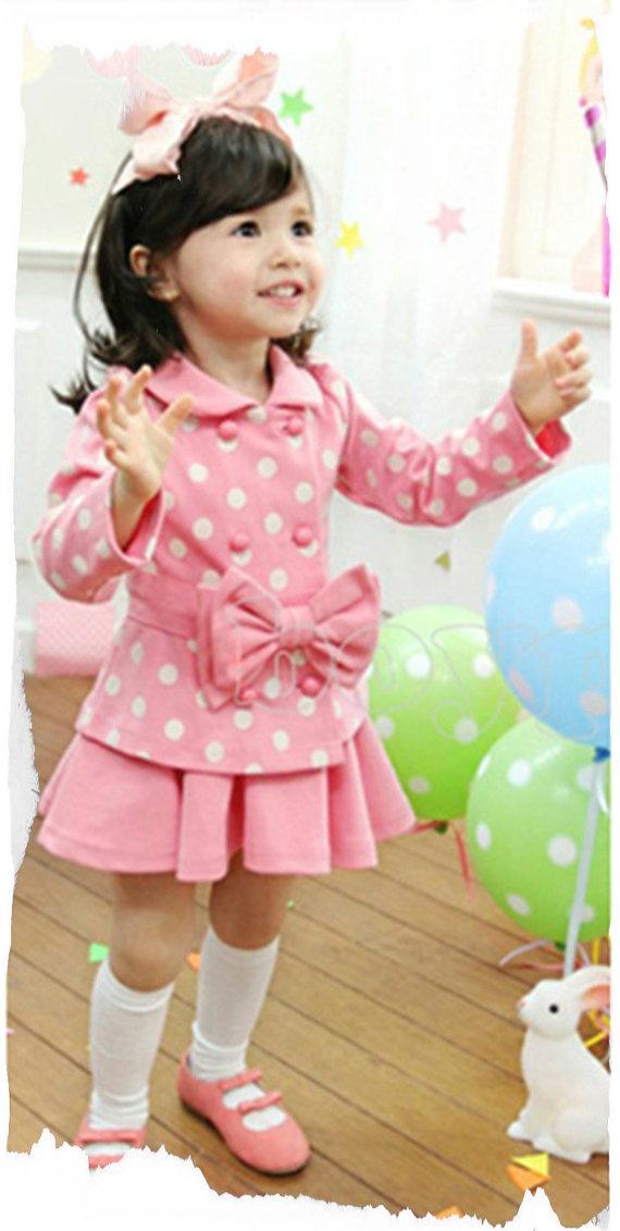 Winter CoCo Coat & Skirt Set by BabyCoCoBellea.