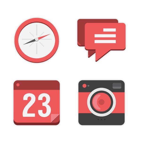 Flat Design: Icons + Branding by East Valiant, via Behance