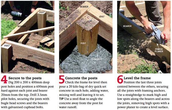 how to build a pool deck step by step