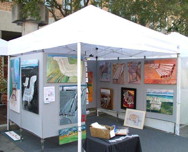 Fine art festival booth display google search art for Display tents for craft fairs
