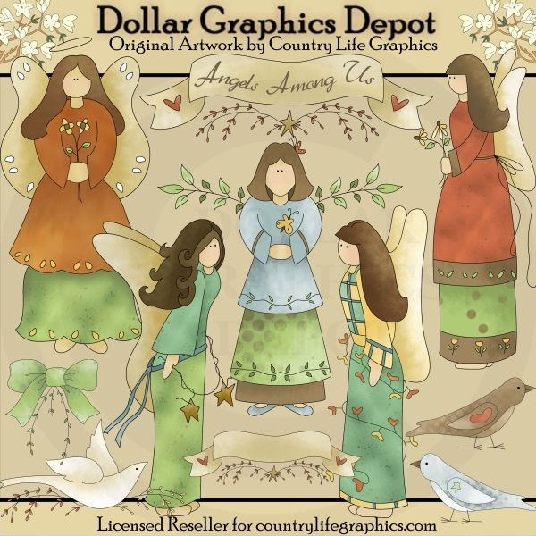 Angels Among Us - Clip Art - $1.00 : Dollar Graphics Depot, Quality Graphics ~ Discount Prices