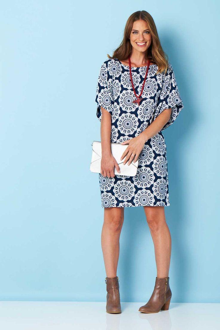 HANDPICKED BY BIRDS - Bell Sleeve Tunic Dress