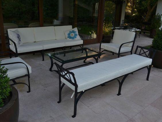 Image result for dise os de muebles de hierro forjado for Sofa exterior hierro