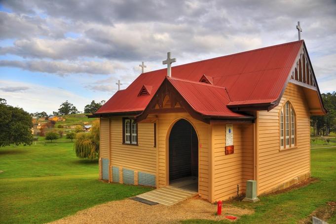Port Arthur Historic Site, Tasmania  St David's Church at Port Arthur Historic Site.,
