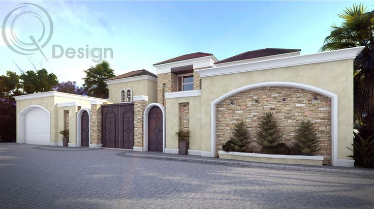 Outside View of Double Story Villa