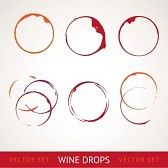 tache vin : Tache de vin rouge sur fond gris