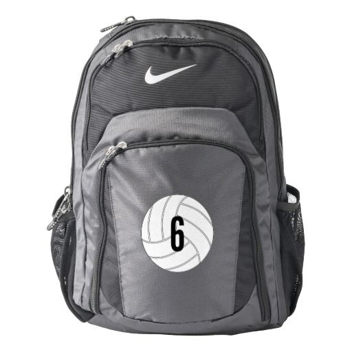 CUSTOMIZABLE Nike Volleyball Backpack...Add your own jersey number or initials! #Nike #Volleyball #NikeVolleyball