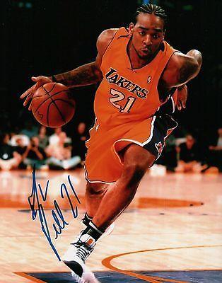 Josh Powell Signed 8X10 Autograph Photo Lakers Champion Home Dribbling w/COA