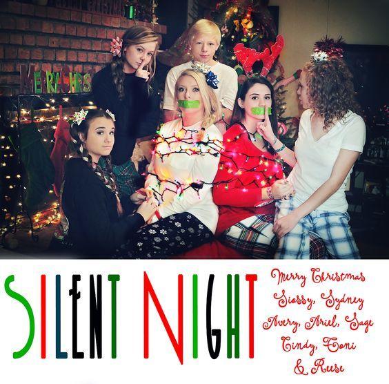 Family Silent Night Duct Tape | Fun Family Christmas card. Cynthiajillphoto.net Conyers GA Silent ...