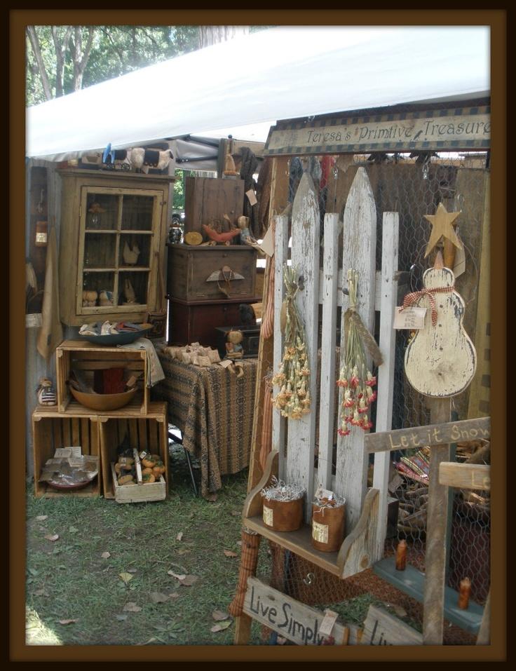Primitive Craft Booth Display Ideas