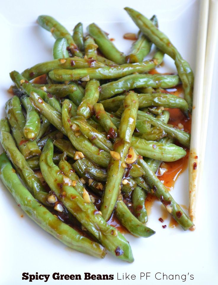 PF Chang's Spicy Green Beans How to make PF Chang's Spicy Green Beans- no sugar