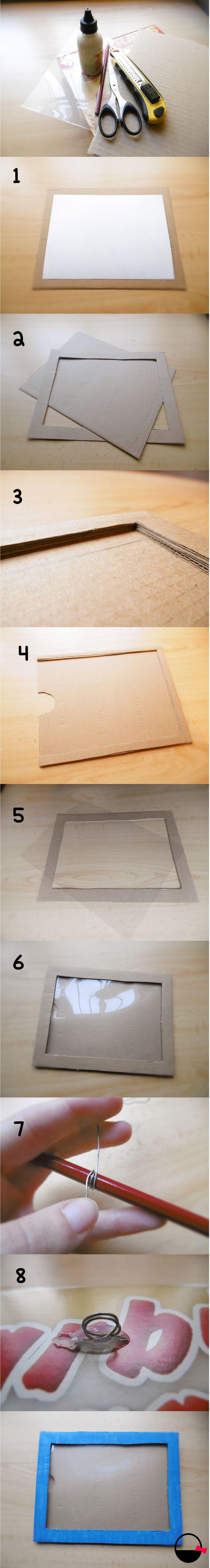 Tutorial: cómo hacer un marco de fotos de cartón