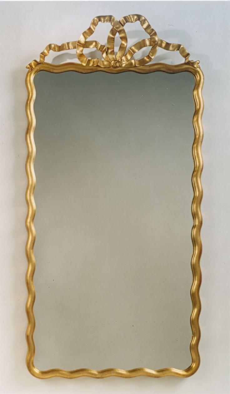 Williams sonoma home five panel beveled mirror - Scalloped Ribbon Mirror Carvers Guild