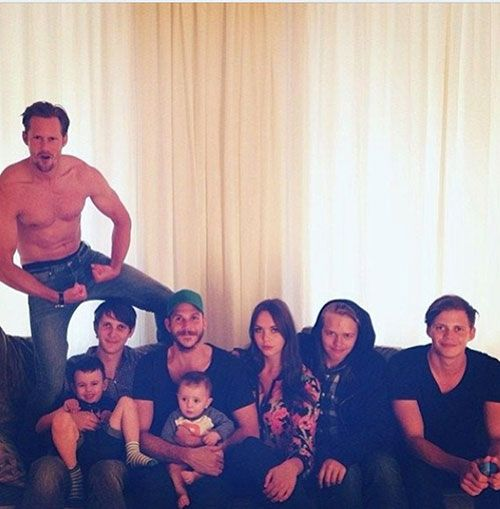 The Skarsgard siblings. #Alexander