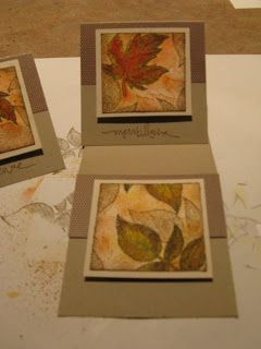 Cartes aquarelle 3po x 3po avec le jeu d'estampes Autumn Splendor de Stampin'Up!