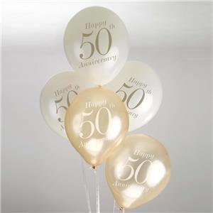"Bryllup Ballonger ""50th Anniversary"",  8stk (144-671109)"