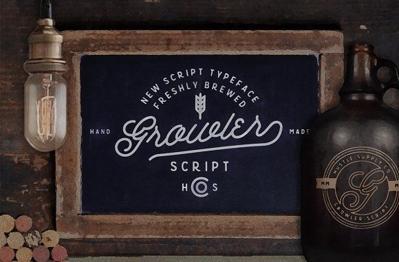@newkoko2020 Growler Script (Introductory Rate) by Hustle Supply Co. on @creativemarket #bundle #set #discout #quality #bulk #buy #design #trend #vintage #vintagegraphic #graphic #illustration #template #art #retro #icon