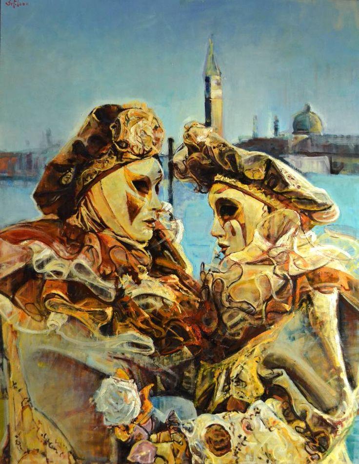 "Saatchi Art Artist Marco Ortolan; Painting, ""Venetian Carnival ( SOLD  )"" #art"